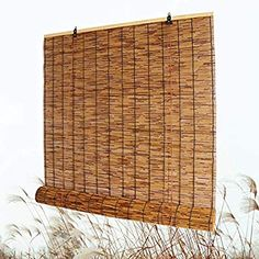 """Amazon.com: Bamboo Roll Up Shade, Reed Roller Blinds Curtain, Sunshade/Eco/Waterproof, for Indoor, Outdoor, Kitchen, Patio, with Lifter, 28"""" W × 72"""" L,36"""" W × 64"""" L,48"""" W × 72"""" L: Home & Kitchen"""