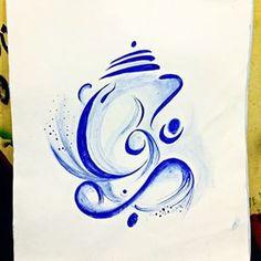 Ganesha Wate rcolor - Instagram Ganpati Drawing, Watercolours, Watercolor Paintings, Krishna Tattoo, Gagra Choli, Ganesh Wallpaper, Ganesha Painting, Ganpati Bappa, Smart Art