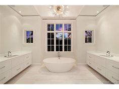 Bathroom Vanities Naples Fl classic traditional master bathroom - dual vanities, glazed