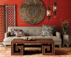 moroccan inspired living space