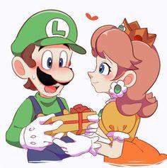 Mario Fan Art, Super Mario Art, Luigi And Daisy, Mario And Luigi, Mario Comics, Super Smash Bros Memes, Daisy Wallpaper, Princess Daisy, Super Mario Brothers