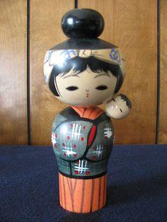 Kokeshi Wooden Doll Made in Japan | eBay