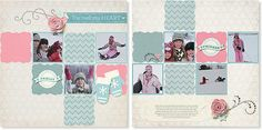 TO ORDER: www.myscrappyapple.ctmh.com - A complete kit to complete this scrapbook layout (as well as another 2 page layout), including materials and step-by-step instructional guide. Workshops on the Go® Frosted scrapbooking kit (G1070) from Close To My Heart.