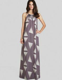 BCBGeneration Triangle Print Maxi Dress