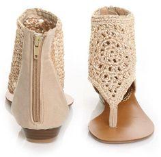 TEJIDOS Y MANUALIDADES DE LA WEB: variedad de zapatos tejidos a crochet