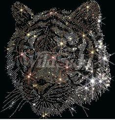 Tiger studded shirts in tees raglans tanks sweats Bling on the tiger tees Rhinestone Tshirts, Rhinestone Art, Rhinestone Transfers, Create T Shirt, Create Custom T Shirts, Bling Quotes, Kid Dates, Studded Shirt, Tiger Art