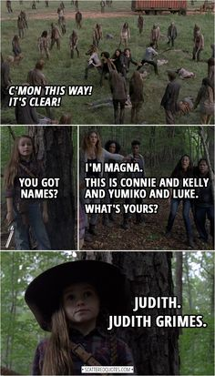 Best 'The Walking Dead' Quotes - Quote from The Walking Dead Walking Dead Funny, Walking Dead Quotes, Walking Dead Tv Show, Fear The Walking Dead, Judith Walking Dead, Judith Grimes, Carl Grimes, Psych Memes, Twd Memes