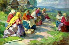Arhkipov, Abram (1862-1930) - 1929 Village Women on Sunday… | Flickr