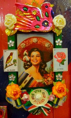 Mexican pin up girl shrine