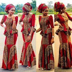 Ankara Print Skirt and Blouse