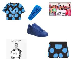 """""Sorry"" outfit"" by elishatomlinson15 on Polyvore featuring adidas Originals, adidas, L. Erickson and Justin Bieber"