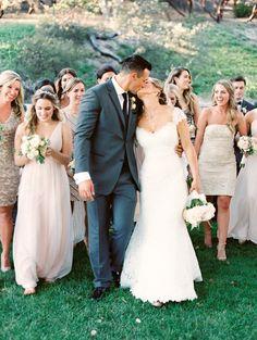Photography: Danielle Poff Photography - www.daniellepoff.com  Read More: http://www.stylemepretty.com/2015/01/20/blush-sequin-san-luis-obispo-wedding/