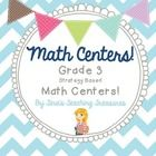 ALL 10 MATH CENTERS: Open ended enough to be used all year long, just add or remove from the bins! Included: -*Write about math ---Foldables ...