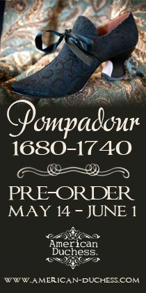 American Duchess:Historical Costuming: V137: Pompadour Court Shoes Giveaway! | Historical Costuming and sewing of Rococo 18th century clothing, 16th century through 20th century, by designer Lauren Reeser