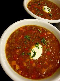 sassy spicy lentil soup more clean eating vegans soups healthy eating ...