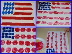 PATTERN BLOCK PRINTED FLAGS | The Preschool Toolbox Blog