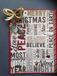 Merry Medley Stampin, Up only Card,made by Helga Brown from Cardblanche Christmas Card Crafts, Merry Christmas Card, Stampin Up Christmas, Christmas Cards To Make, Christmas Photo Cards, Xmas Cards, Holiday Cards, Winter Cards, Christmas 2016