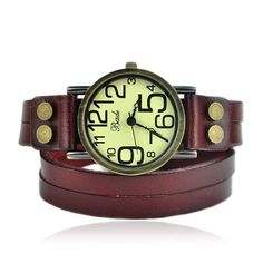 I really want a wrap watch! Love the zany numbers on the face.
