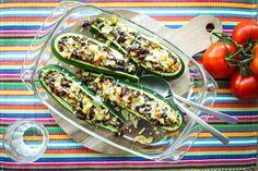 Recept voor gevulde Mexicaanse courgette