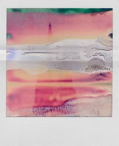 Another William Miller ruined Polaroid. Stunning colours and I love how a random accident and a set chemical process can yield an artwork that some artists would give their right eye to deliberately produce. Abstract Photography, Film Photography, Levitation Photography, Experimental Photography, Exposure Photography, Contemporary Photography, Winter Photography, Beach Photography, Wedding Photography