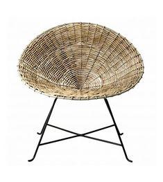 Fauteuil En Rotin Kabu Chair De La Marque Mobilier Danoise Bloomingville Magnifique Chaise Ronde