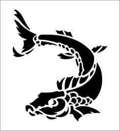 Fish Solo stencil from The Stencil Library BUDGET STENCILS range. Buy stencils online. Stencil code CS8.