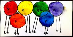Kindergarten Color Birds