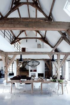 Une ancienne grange transformée en loft, esprit authentique garanti !
