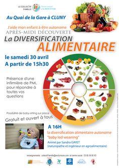 """Atelier """"La diversification alimentaire"""" le 30 avril à Cluny : http://clun.yt/1p7g43a"""