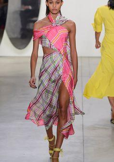 Prabal Gurung,Frühling/ Sommer 2018 New York Fashion, Runway Fashion, Street Fashion, Tartan, Plaid, Prabal Gurung, Spring Summer 2018, Houndstooth, Outfit