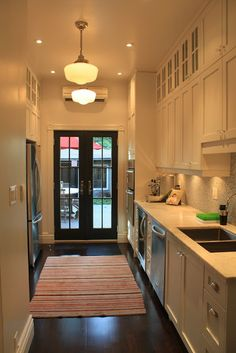 Amazing Roncesvalles Victorian Reno Diary   I Love Galley Kitchens With French  Doors At The End! Photo