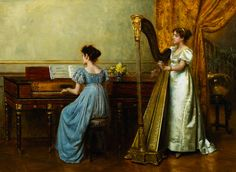 The Duet,  George Goodwin Kilburne.  English (1839-1924)                              3:55am
