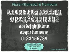 Merci Alphabet and Numbers in .SVG .EPS .DXF & .Studio3 formats Craft Cut Die Cutters Digital Vector Files Instant Download by TheSVGFontStore on Etsy