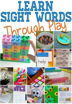These are the absolute best hands-on sight word activities! Learning sight words through play has never been more fun!