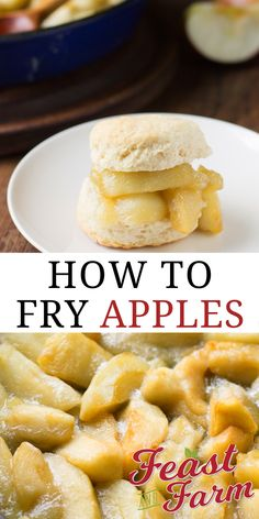 Do you know how to fry apples? This southern classic makes a great addition to your breakfast or supper table. Cooking For Beginners, Recipes For Beginners, Homemade Breakfast, Breakfast Recipes, Dinner Recipes, Fried Apples, Easy Homemade Recipes, Thanksgiving Side Dishes, Side Dishes Easy