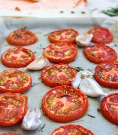 Confession, I use these for everything. These roasted tomatoes are what I use for my homemade marinara and they are also great on grilled cheese sandwiches. They are so rich in flavor that you'll be surprised at how easy they are to make.