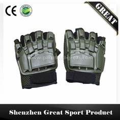 Outdoor Cycling Airsoft Tactical SWAT Paintball Half Finger Gloves #airsoft_gloves, #Products