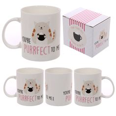 Cute Cat Slogan New Bone China Mug New bone china mugs are a great gift for all ages and we have a fantastic selection of designs available. As well as being food safe, our new bone china mugs can be put in the dishwasher and the microwave so are versatile as well as looking great.