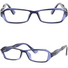 Full Rim Light Womens Plastic Frame Prescription Glasses RX Sunglasses Navy Blue #Unbranded