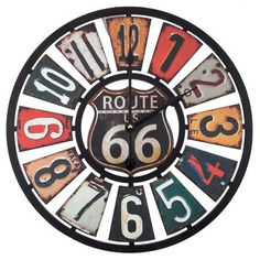 Route 66 MDF Wood Clock * Details can be found by clicking on the image. (This is an affiliate link) Route 66 Decor, Route 66 Theme, Wooden Clock, Wooden Walls, Wood Home Decor, Wall Decor, Billard Design, Ideas Vintage, Vintage Style