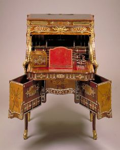 Ladies  desk mid to late 1700s Extravagant Inventions The Princely Furniture of the Roentgens by David 1743 - 1807