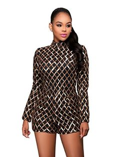 0023827b611 Looking for Women Sexy Sequin Party Short Jumpsuits Club Rompers with Long  Sleeve  Fancywe offers lots of Rompers in different styles