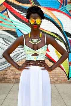The Afrofusion Spot spot for African Fashion, Music, Lifestyle & Entertainment in Africa & diaspora. Features Real Talk, Style & Travels of MissG Bustier Top, Bustiers, Black Girl Magic, Black Girls, Poses Modelo, Moda Afro, Modelos Fashion, Ebony Girls, Fashion Moda