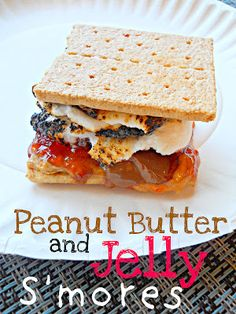 SteakNPotatoesKindaGurl: Peanut Butter and Jelly S'mores {Improv Cooking Challenge}