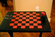 need this checkerboard table for game room