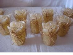 Wedding Centerpiece setting 12 Napkin Rings and Candle Holder Wedding Bridal S Wedding Favors And Gifts, 50th Wedding Anniversary Decorations, Wedding Centerpieces, Rosen Arrangements, Unique Bridal Shower, Candle Holders Wedding, Wedding Napkins, Decoration Table, Vase