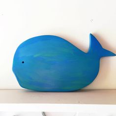 Wooden Whale Decor by sweetchloroform on Etsy