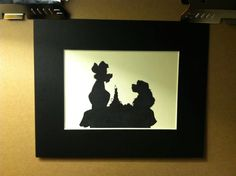 Disney Lady and the Tramp Silhouette. $15.00, via Etsy.