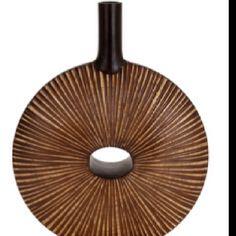 "UMA ENTERPRISES INC. Brown 24"" Starburst Vase $49.99"