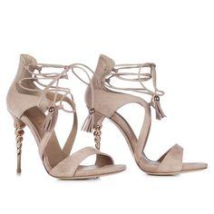 LE SILLA Sandal In Velour, Suede Calfskin In Pompei Colour H.110 Mm. #lesilla #shoes #sandals